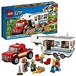 LEGO City Great Vehicles 6209753 Pickup & Caravan 60182 Building Kit (344 Piece)