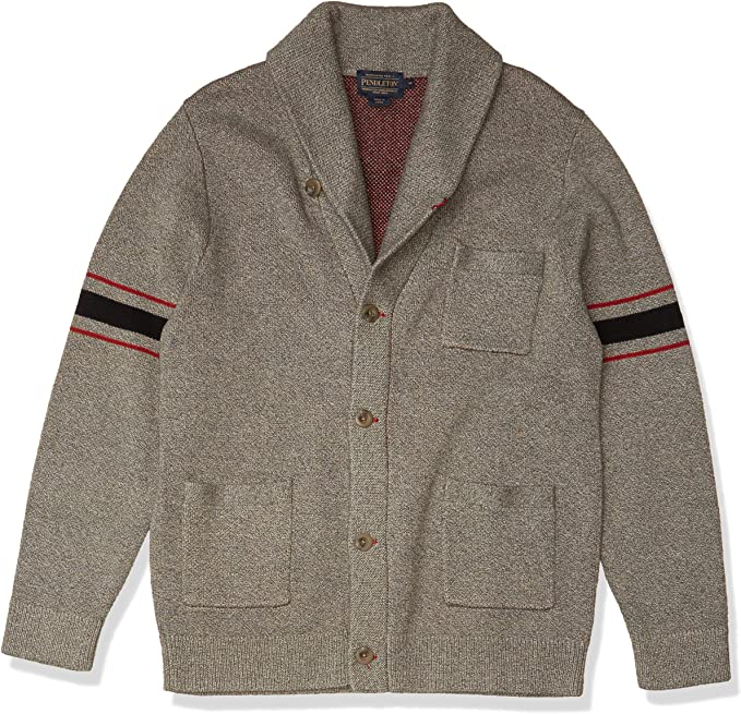 Men's Vintage Sweaters, Retro Jumpers 1920s to 1980s Pendleton Mens Archive Cardigan Sweater $159.00 AT vintagedancer.com