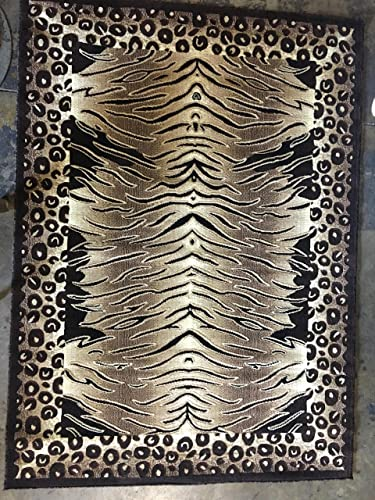 Tiger Leopard Animal Skin Print Area Rug Print Design 130 8 Feet X 10 Feet 6 Inch