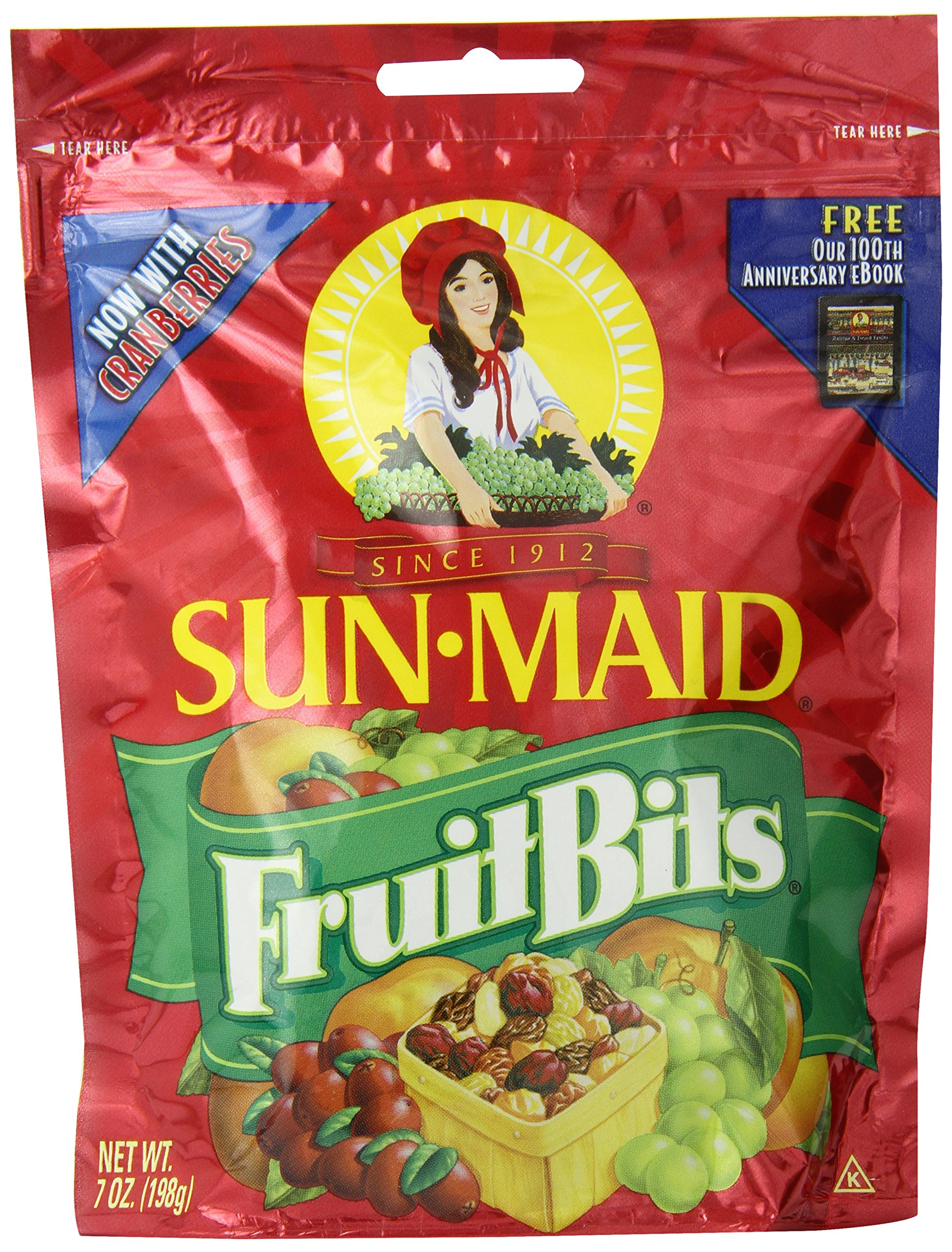 Sun Maid Fruit Bits, 7-Ounce Bags (Pack of 6) by Sun Maid (Image #1)