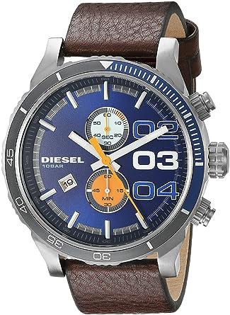 d212efbae Diesel Men's Quartz Watch, Analog Display and Leather Strap DZ4350 ...