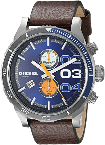 3a5af84061fe Reloj Diesel Double Down Dz4350 Hombre Azul  Amazon.es  Relojes