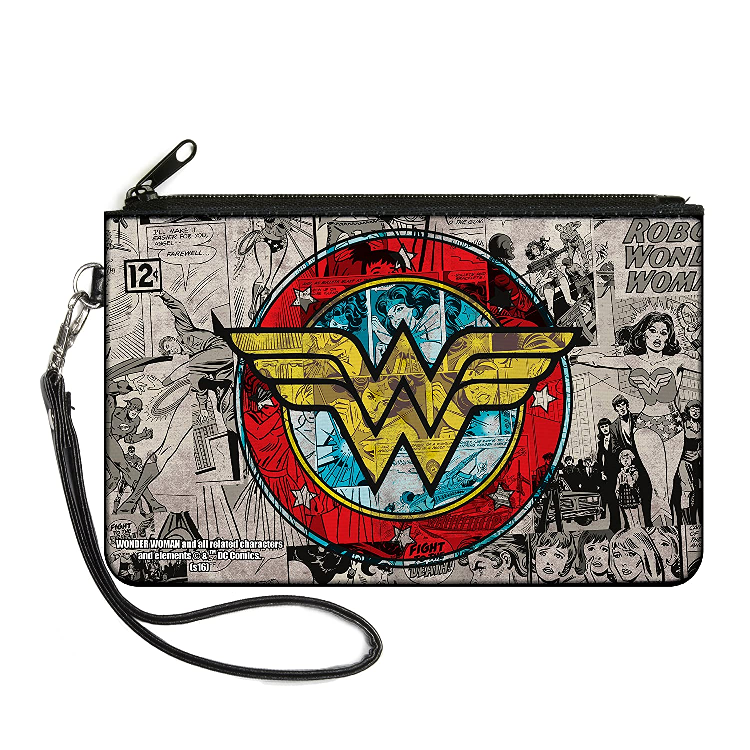 "Buckle-Down Junior's Canvas Coin Purse Wonder Woman, Multicolor, 4.25"" x 3.25"""