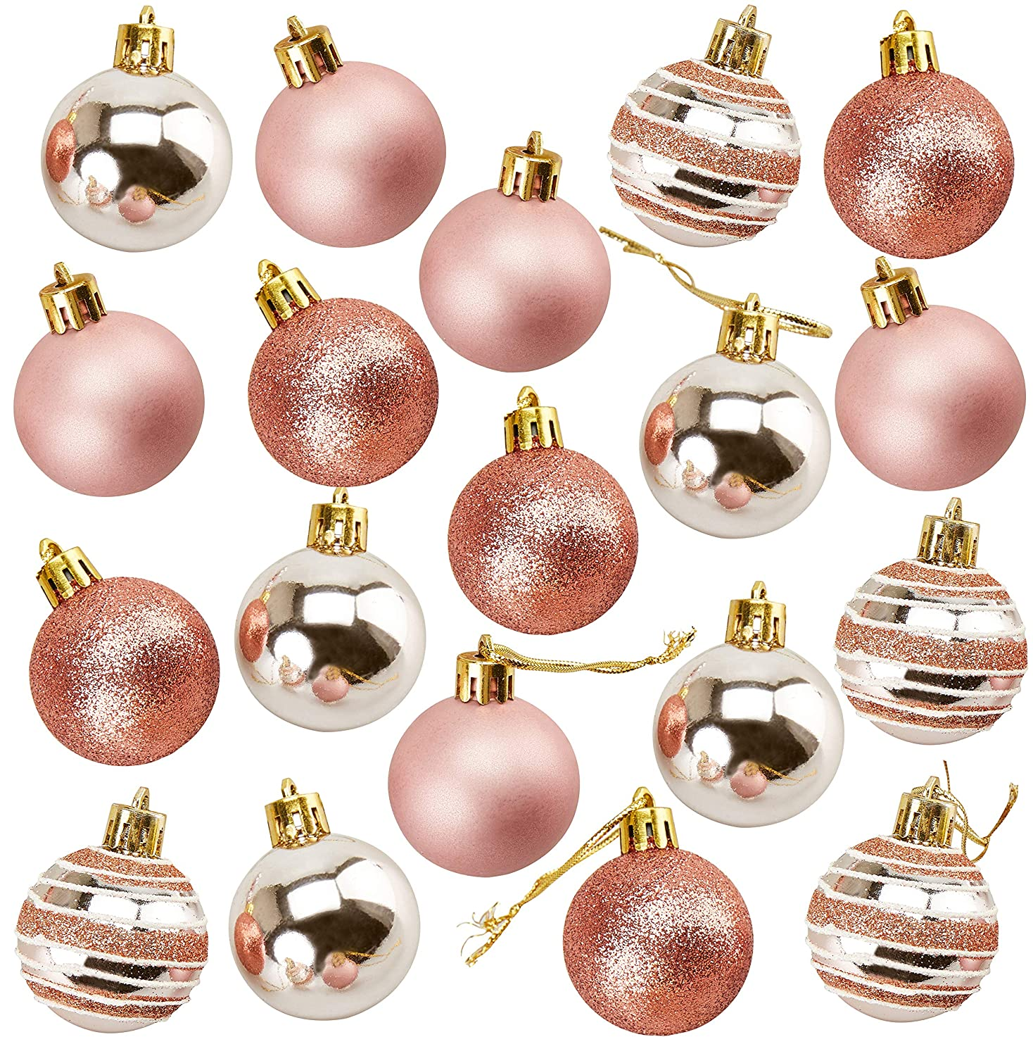 Amazon Com Juvale 36 Pack Christmas Tree Ornaments Shatterproof