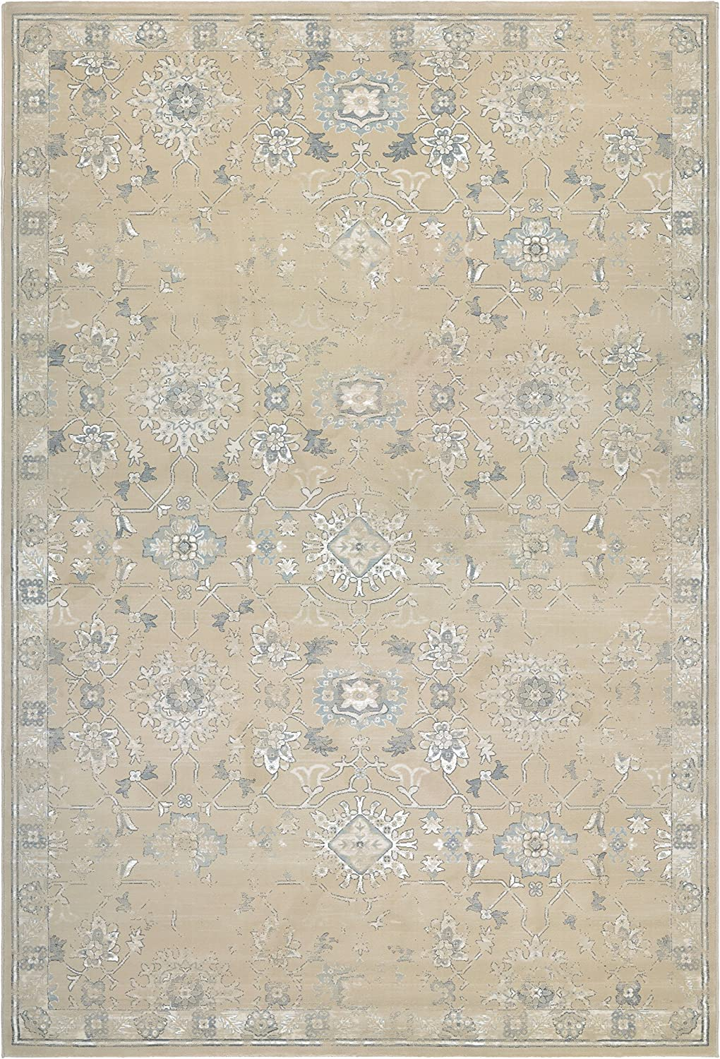 Couristan Provincia Odette Area Rug in Beige/Cream on Hello Lovely Studio. #arearugs #frenchcountry #mutedcolors #serenedecor