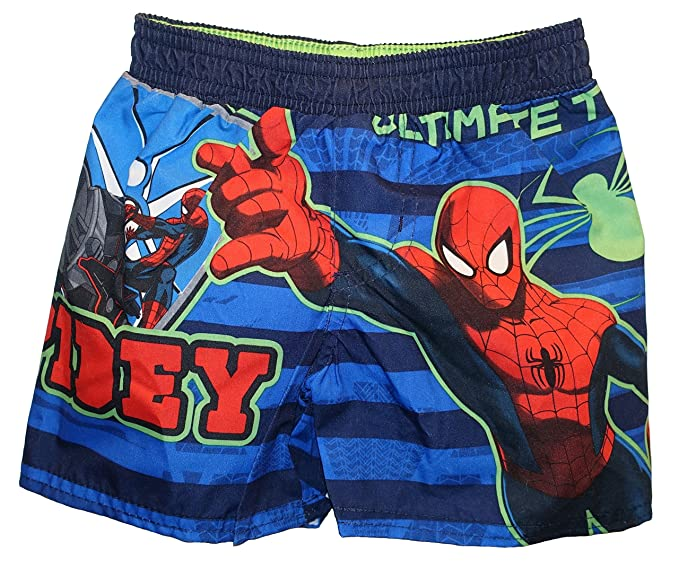 1d5450adaf947 Amazon.com: Marvel Baby Boys Spiderman Spidey Swim Trunks (12 Months ...