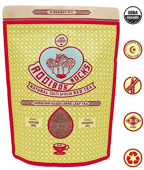 Amazon.com : ROOIBOS ROCKS 16oz Delicious South African Red Bush ...