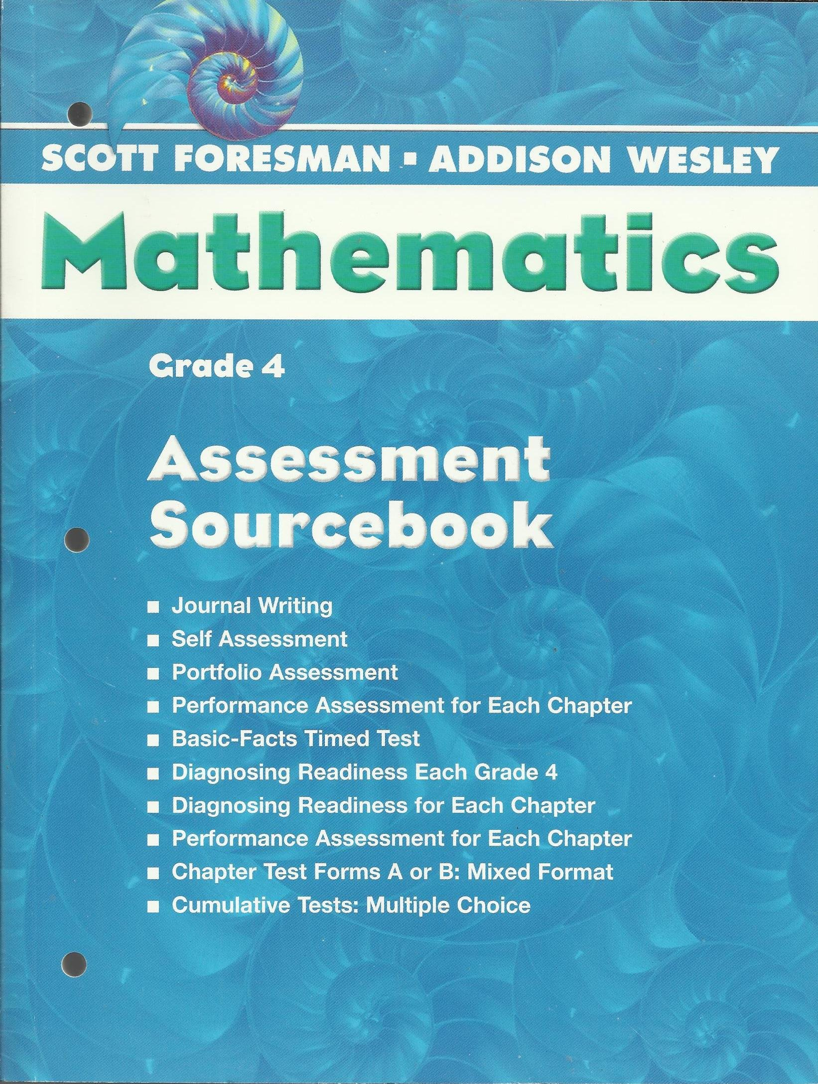 Grade 4 Assessment Sourcebook Scott Foresman Addison Wesley