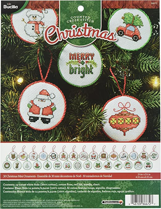Christmas Series Counted Cross Stitch Kit Christmas Baubles Picture Christmas