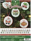 Bucilla Counted Cross Stitch Mini Ornament Kit, Christmas (Set of 30)