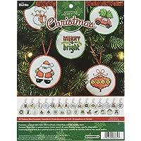 Bucilla Counted Cross Stitch Mini Ornament Kit, 86672 Christmas (Set of 30)