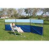 Kampa Steel Poled Windbreak with View Panel - Choice of Colours