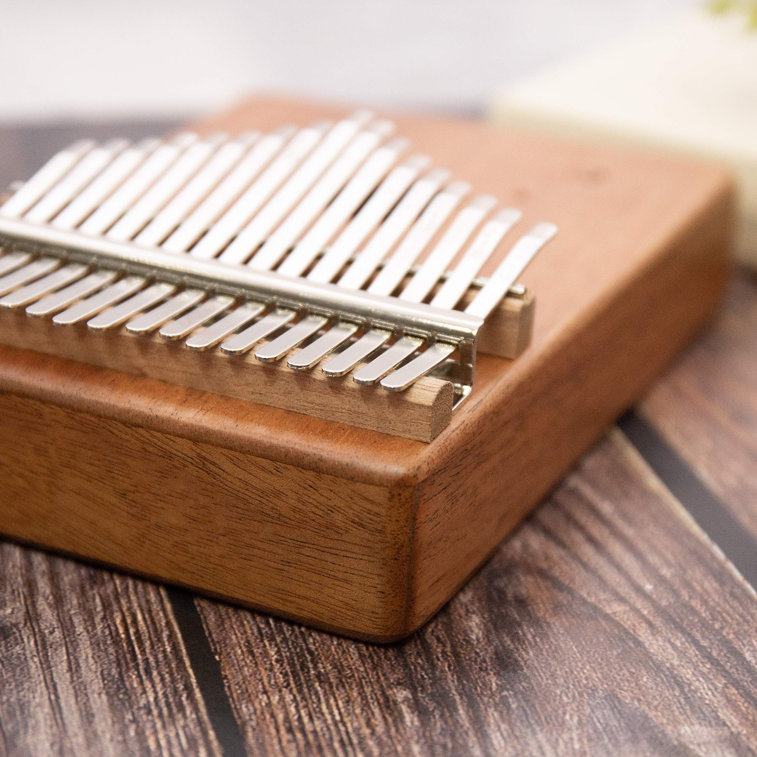 Kalimba 17 Keys Thumb Finger Piano - Mbira - Solid Mahogany and Portable with Carrying Bag and Instructions by GSM Brands (Image #6)