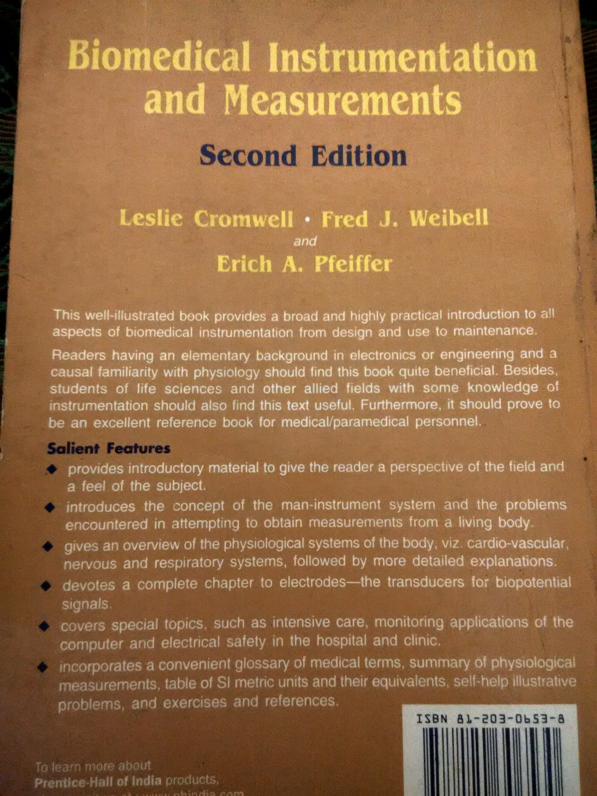 Biomedical Instrumentation By Leslie Cromwell Pdf