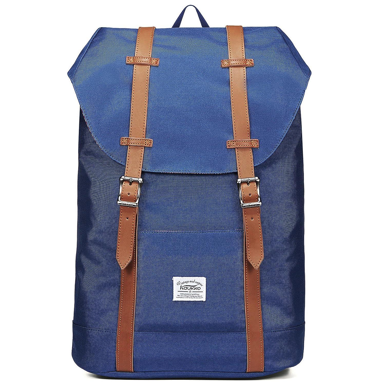 KAUKKO Rucksack Damen Herren Vintage Laptop Reiserucksack Studenten für 14 Notebook Lässiger Daypacks Schultaschen für Wandern Reisen Camping ZHIBIAO HUANG