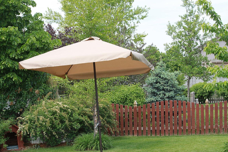 Amazon.com : Rectangle Outdoor Patio Umbrella   Java : Rectangular Umbrella  : Garden U0026 Outdoor