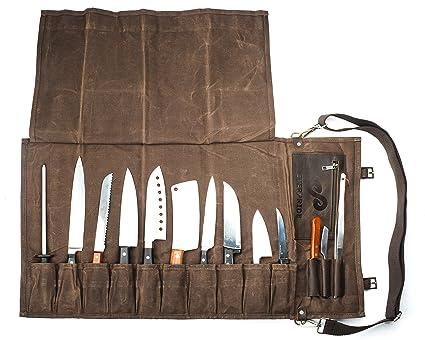 7e7623265e Amazon.com  Chef Knife Roll Bag (13 Slots)