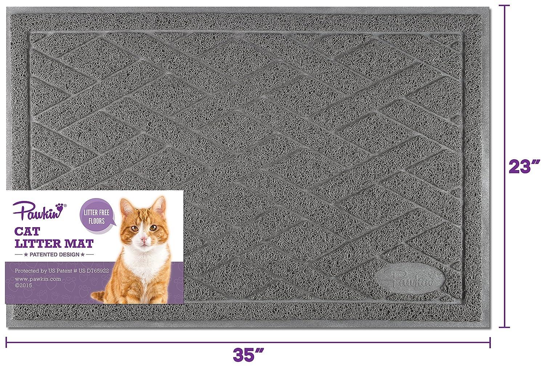 Pawkin Colchoneta de Caja de Arena para Gatos esterlina x-Grande Gris: Amazon.es: Productos para mascotas