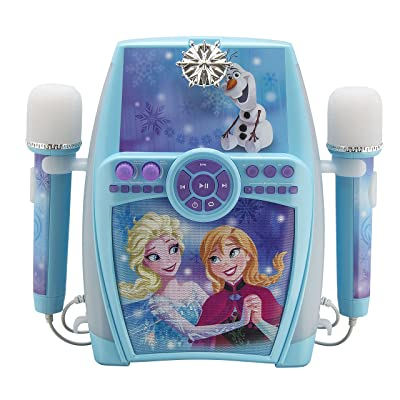 Frozen Deluxe Sing Along Boombox with Dual Microphone: Toys & Games