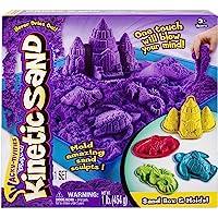 Kinetic Sand Sandbox and Molds Activity Set (Purple)