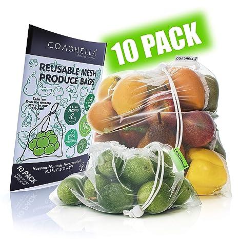 Amazon.com: Bolsas de malla reutilizables de COACHELLA ...