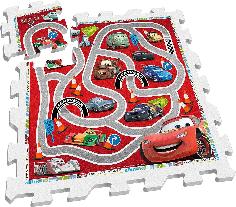 Stamp Sas TP892001 Puzzle Playmat Racetrack Cars 9 Pcs, Bebé-Niños, Multicolor, 10 m+