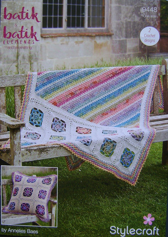 Stylecraft patrón de ganchillo 9448 - Manta y cojín en DK ...