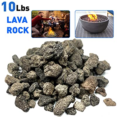 "EasyGoProducts 1 10 Pound Lave ROK Black Lava Rock – Medium ½"" – 1"" in Size – 100% All, Brown : Garden & Outdoor"
