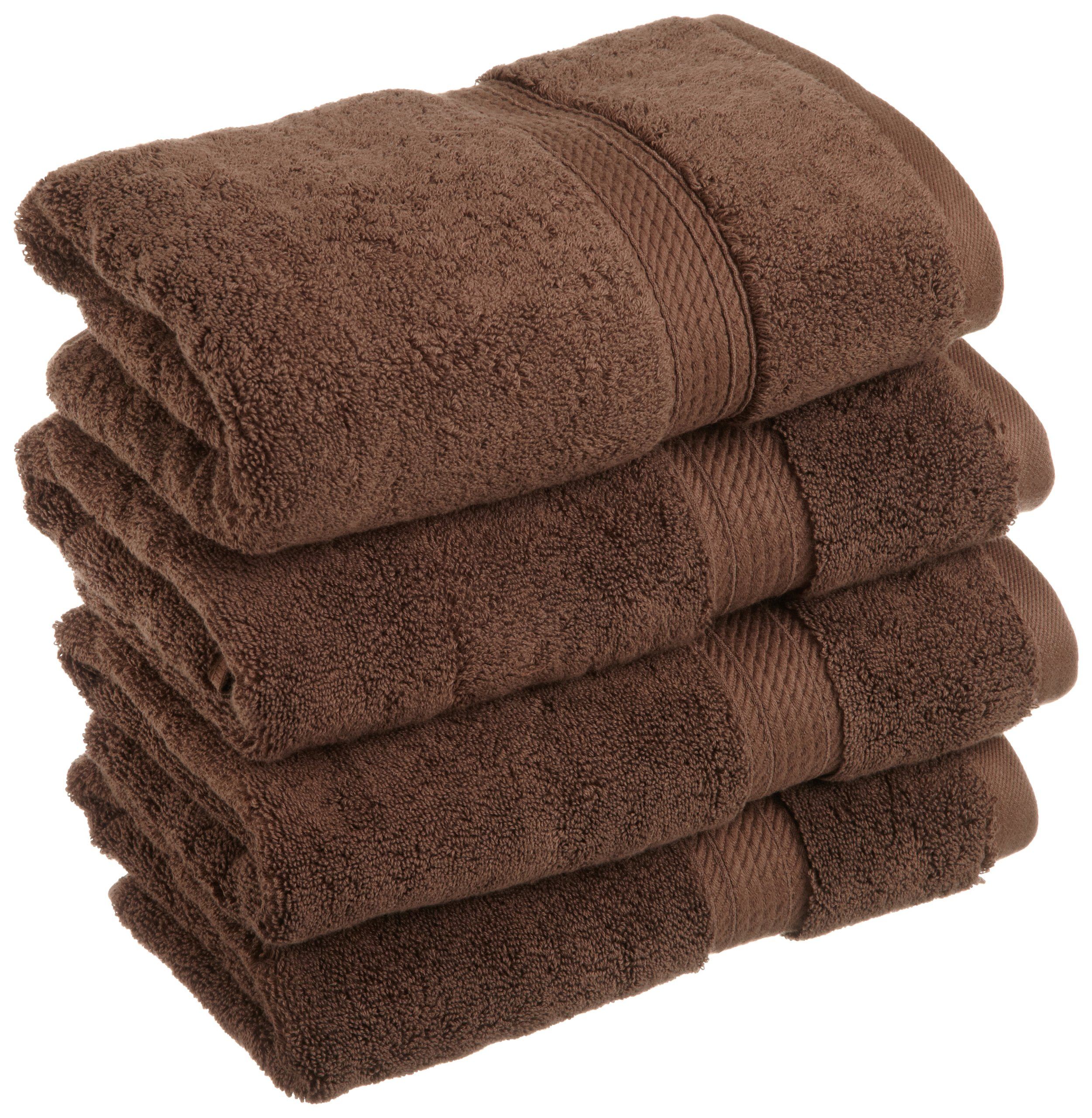 Superior 900 GSM Luxury Bathroom Hand Towels, Made of 100% Premium Long-Staple Combed Cotton, Set of 4 Hotel & Spa Quality Hand Towels - Chocolate, 20'' x 30'' each