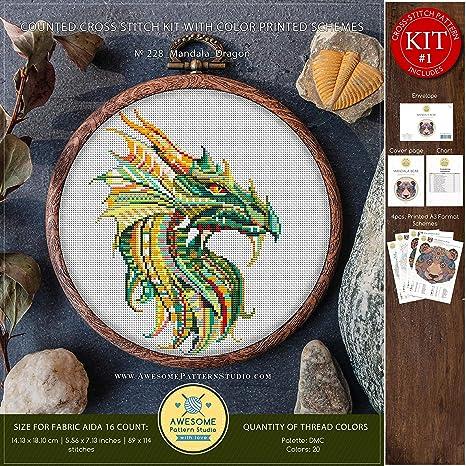 Dragon Stunning Cross Stitch Kit