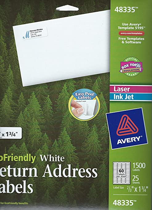 Avery 42895 Label Template Avery R Easy Peel R Address Labels For