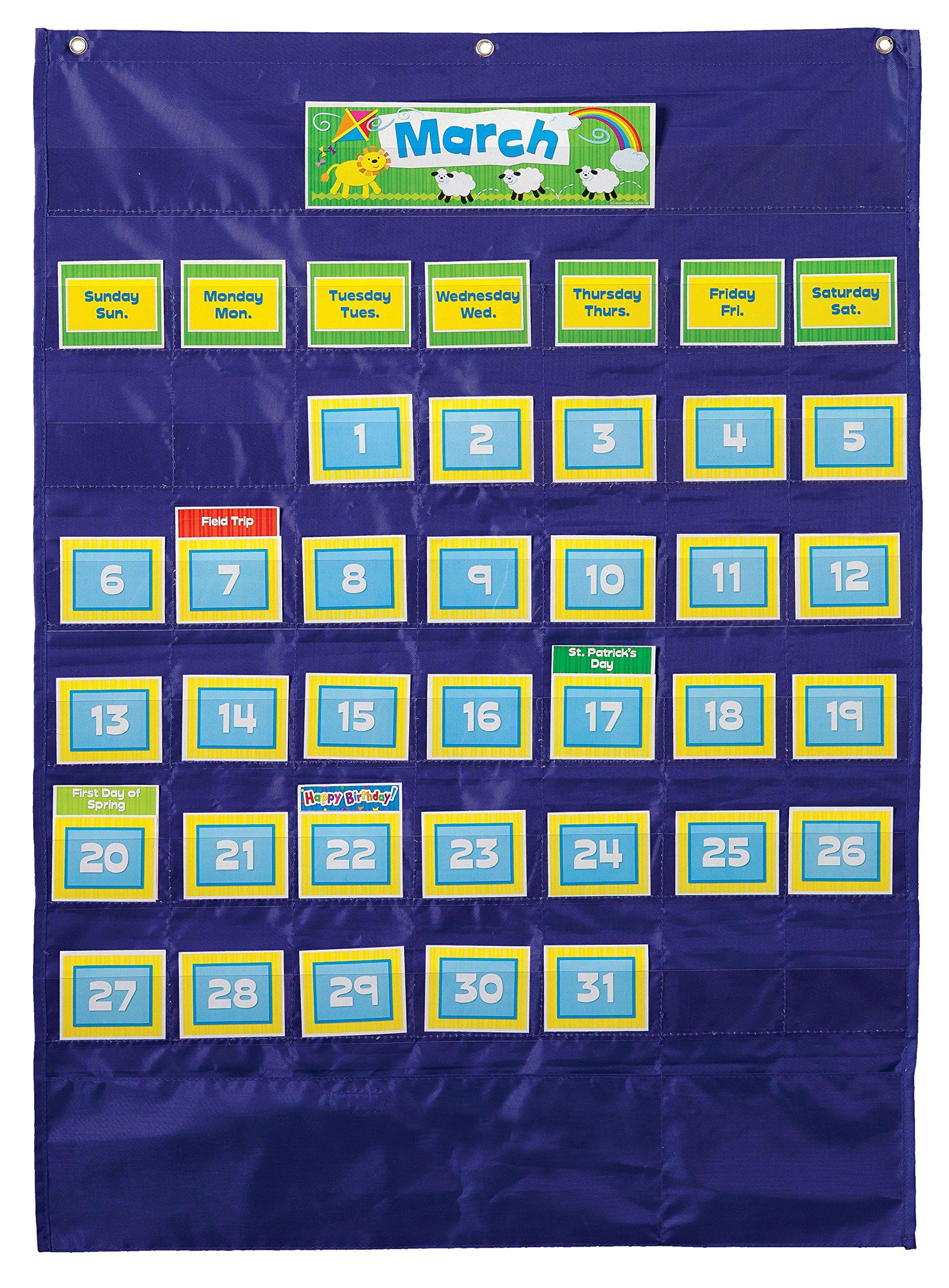 Carson Dellosa Deluxe Calendar Pocket Chart (158156) by Carson-Dellosa (Image #1)