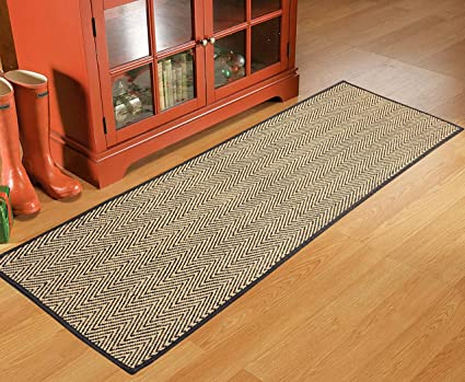 Saral Home Handloom Made Cotton & Jute Mixed Multi Purpose Runner- 40x120 cm