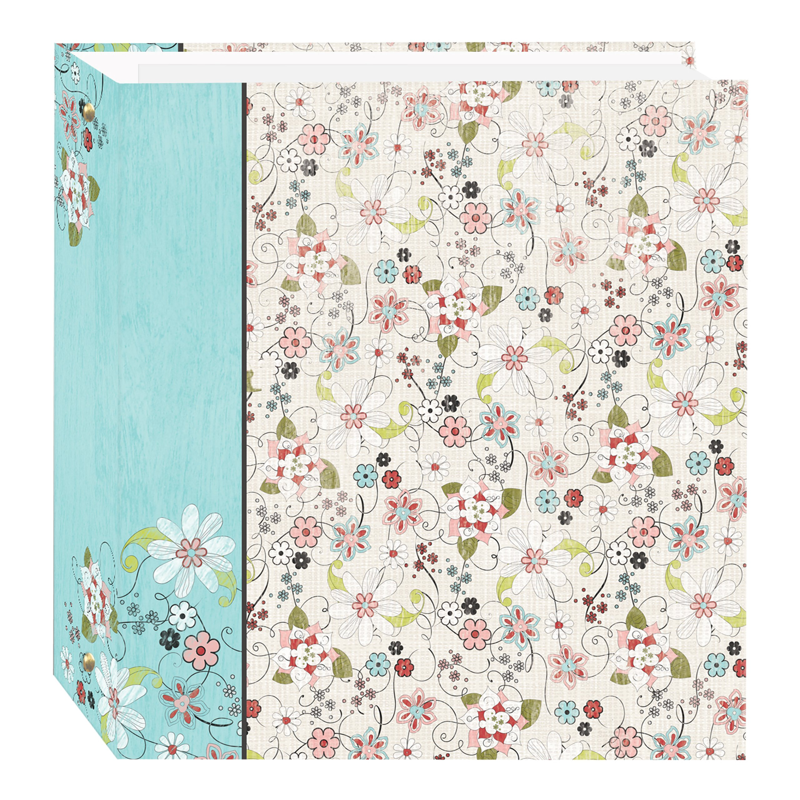 Pioneer Photo Albums TR-100D/BFE Magnetic 3-Ring 100 Page Photo Album, Bold Flower Explosion Design by Pioneer Photo Albums
