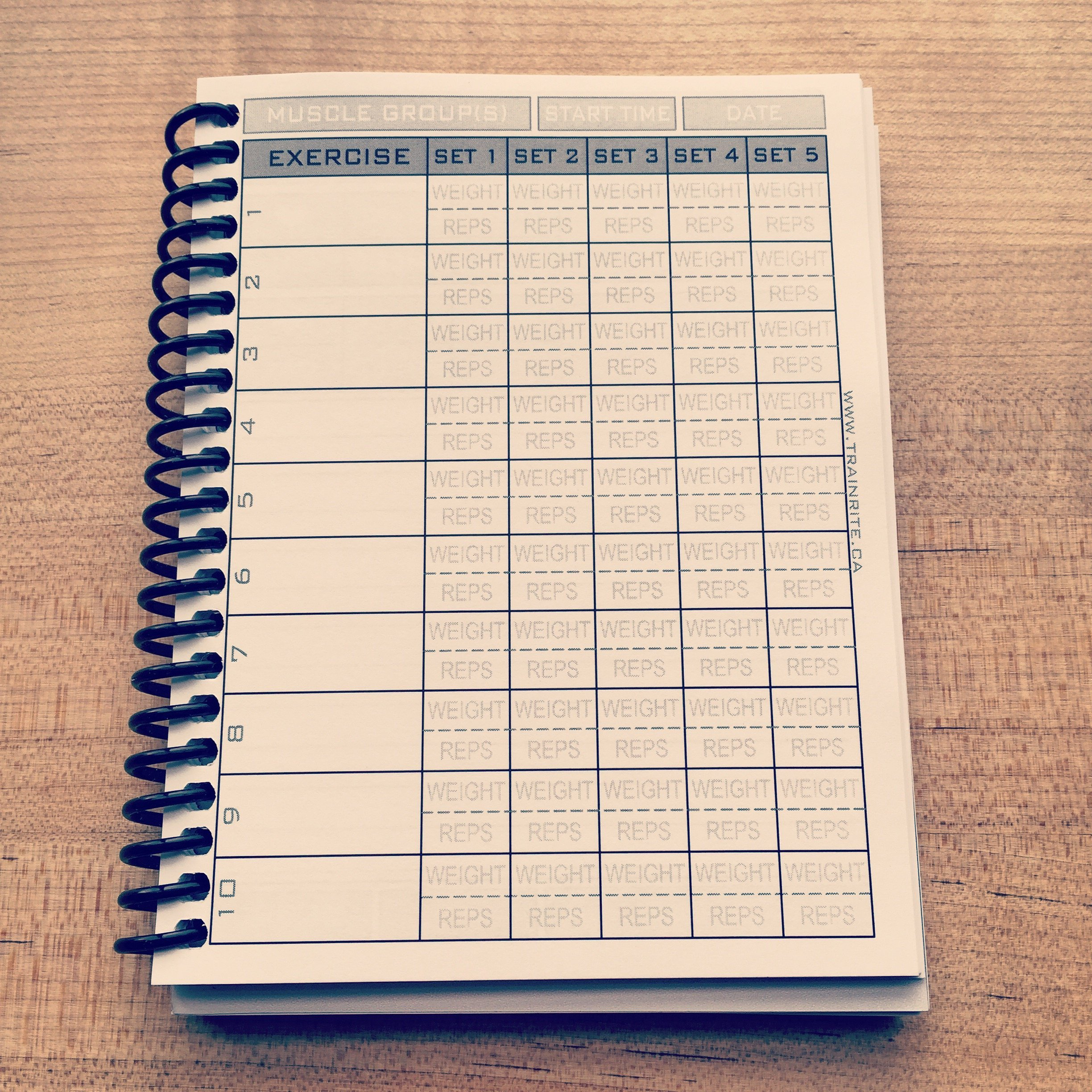 trainrite compact fitness journal an exercise log book matt