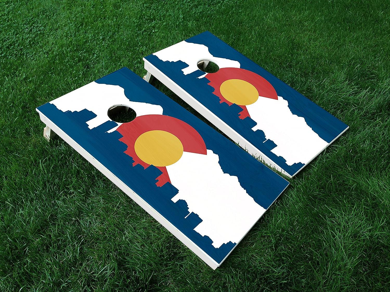 Rhode Island Distressed State Flag Themed Custom Cornhole Boards Variations
