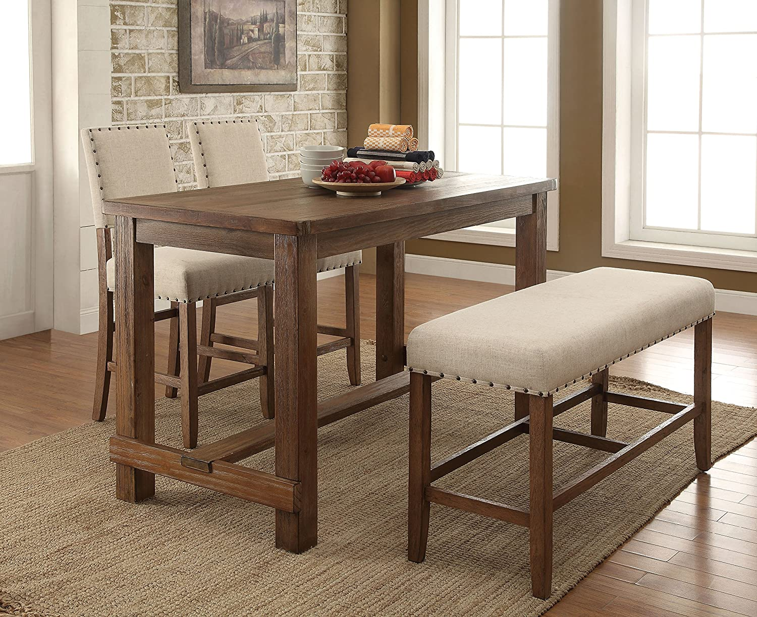 Amazon.com - HOMES: Inside + Out IDF-3324PBN Greggory Counter-Height ...