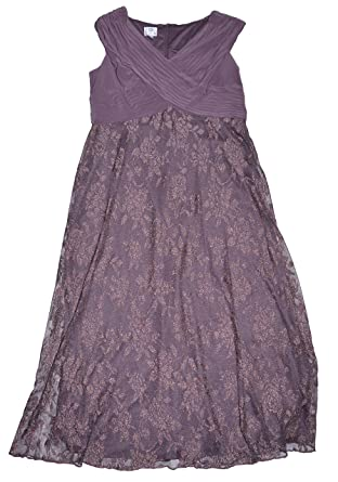 Patra Plus Size Cap Sleeve Beaded Gown 16w Purple At Amazon