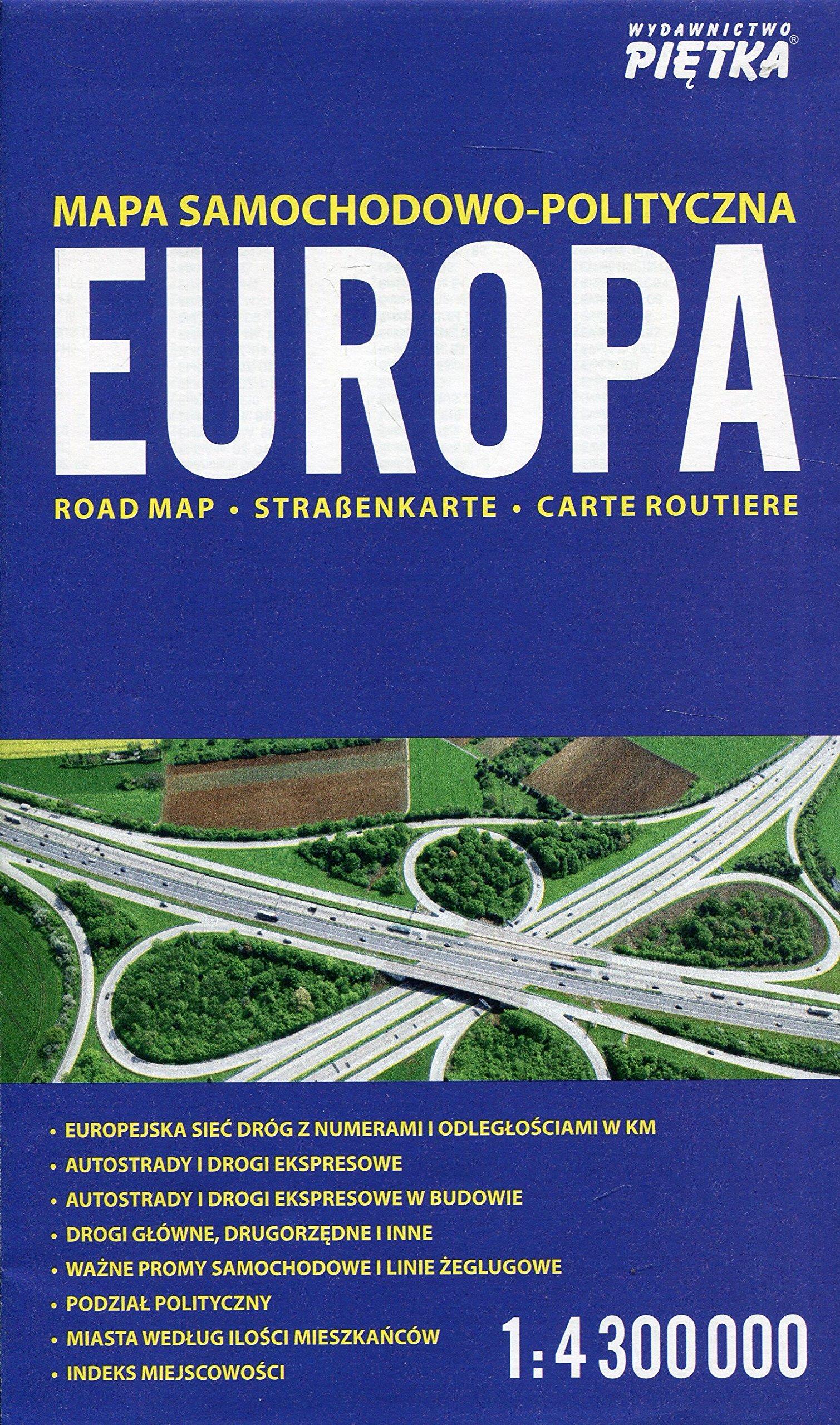 Europa Mapa Samochodowo Polityczna 1 4 300 000 Polish Edition