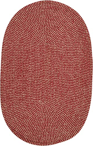 Softex Check Rug, 4 by 6-Feet, Sangria Check
