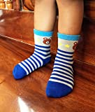 RATIVE Non Skid Anti Slip Crew Socks With Grips For