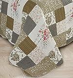 Brilliant Sunshine Rose Patchwork 3-Piece Quilt