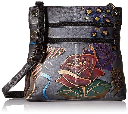 3e2b01c1a10c Anna by Anuschka Women's Genuine Large Leather Hobo Handbag | Hand Painted  Original Artwork