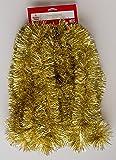 Thick Tinsel Christmas Garland Gold 15'