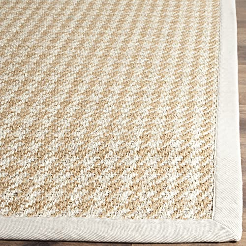 Safavieh Natural Fiber Collection NF472A Hand Woven Light Grey Wool Sisal Area Rug 8 x 10