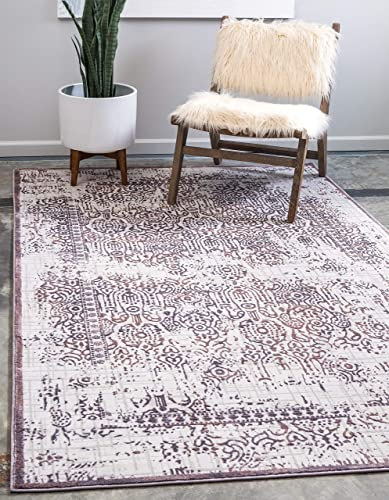 Unique Loom Aberdeen Collection Traditional Textured Vintage Violet Area Rug 9 0 x 12 0