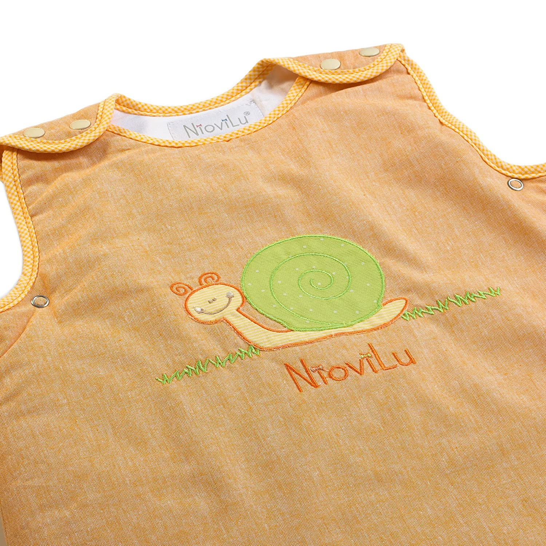 NioviLu Baby Schlafsack 0-6 Monate // 70 cm - 2.5 Tog Escargot Rigolo