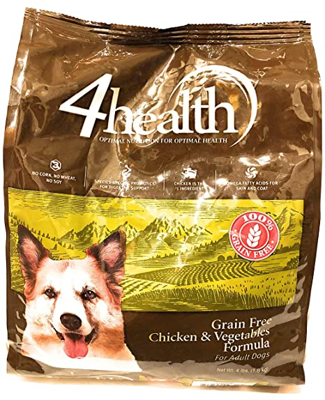 4health Puppy Food >> 4health Tractor Supply Company Grain Free Adult Dog Food Chicken Vegetables Formula 4 Lb Bag