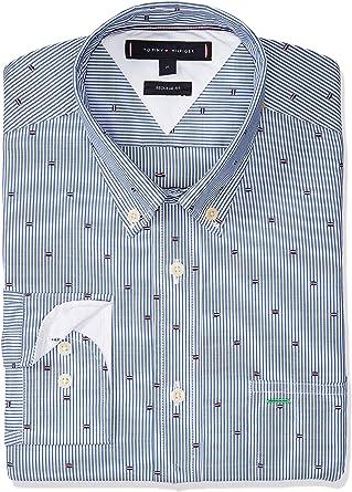 Tommy Hilfiger Camisa Fil Coupe Global Hombre L Azul: Amazon.es: Ropa y accesorios