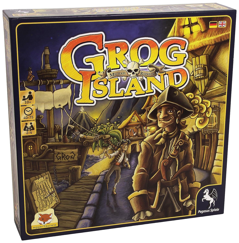 Pegasus Grog Island - Juego de Tablero (29,5 cm, 29,5 cm, 7 mm ...